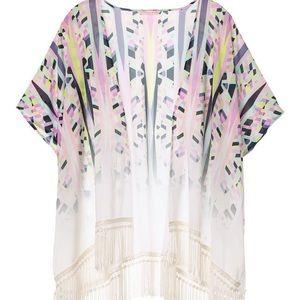 🛍 Victoria's Secret Geometric Beach Kimono, XS
